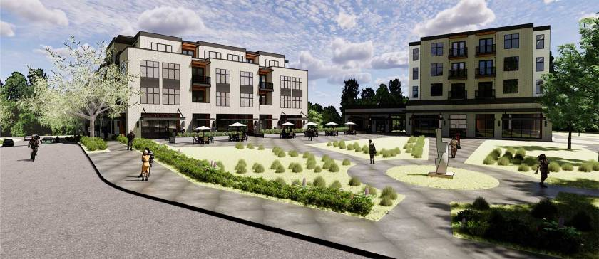Proposed redevelopment for Doddway Center at Smith and Dodd in West St. Paul