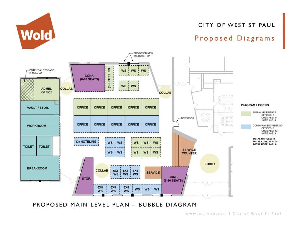 Proposed layout for West St. Paul city hall redesign.