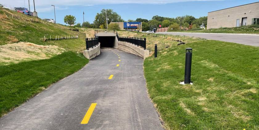 Robert Street tunnel on the River-to-River Greenway in West St. Paul