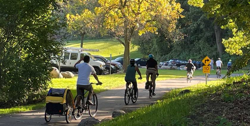 West St. Paul Rider community bike ride in West St. Paul at Marthaler Park