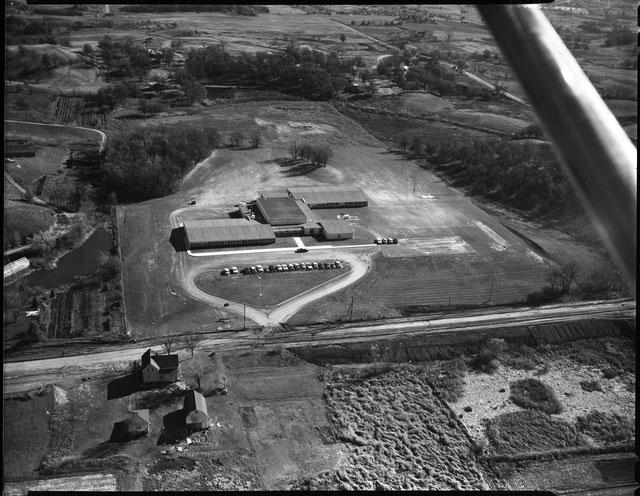Aerial view of Garlough School in 1958.
