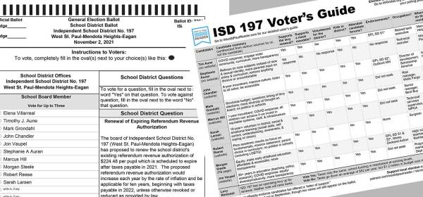 ISD 197 school board and levy renewal election and voter's guide