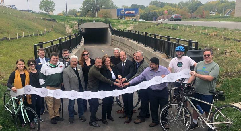 Robert Street underpass ribbon-cutting ceremony in West St. Paul